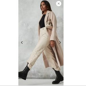 NWT Missguided Camel Split Side Trench Coat
